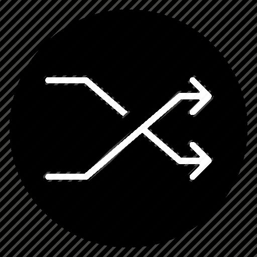 Random, round, arrow, direction, navigation icon - Download on Iconfinder