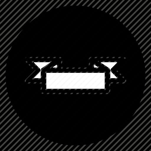 ribbon, round icon