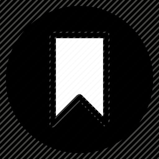 bookmark, favorite, ribbon, round icon