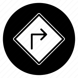 right, road, round, sign icon
