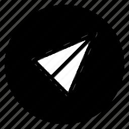 round, send icon