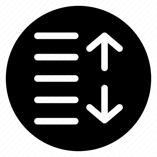 increase, round, spacing icon