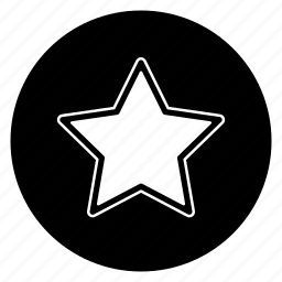 famous, favorite, round, star icon