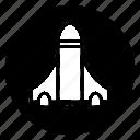 launch, rocket, round, spaceship, startup icon