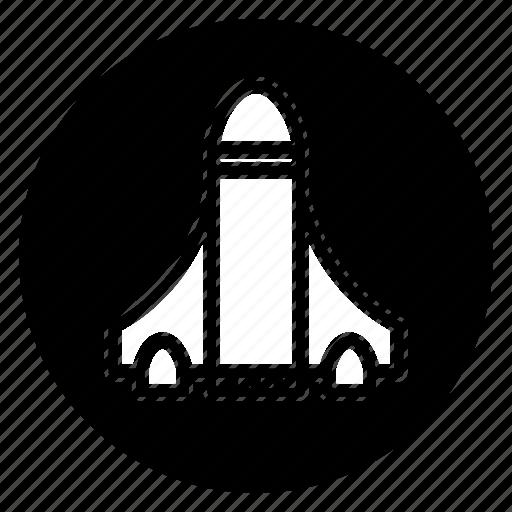 rocket, round, startup icon