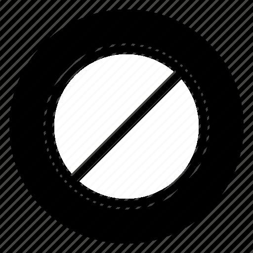 block, round, stop icon