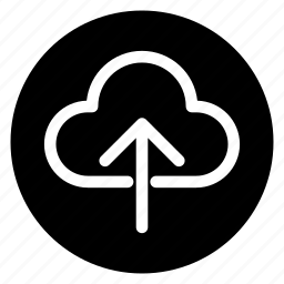 backup, cloud, round, storage, upload icon