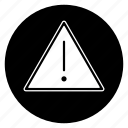alarm, alert, attention, danger, error, warning icon