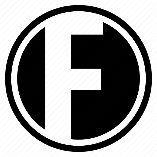alphabet, character, f, round icon