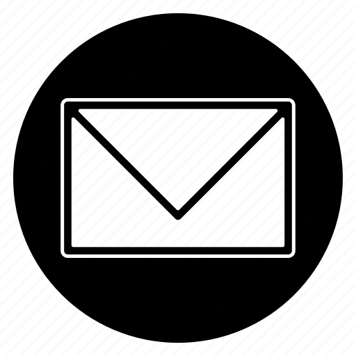 letter, mail, round icon