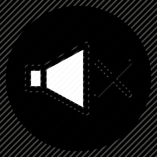 round, shape, silent, speaker, volume icon