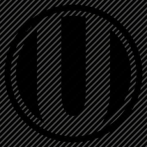 alphabet, character, round, u icon
