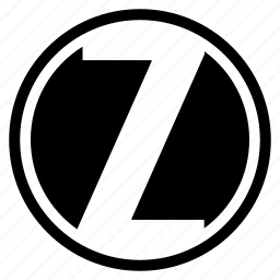 alphabet, character, round, z icon