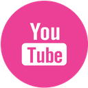 media, pink, round, social, youtube icon