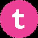media, pink, round, social, tumblr icon