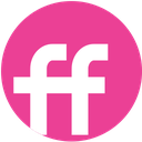 fiendfeed, media, pink, round, social icon