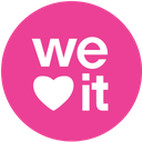 media, pink, round, social, weheartit icon