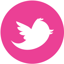 Media, pink, round, social, twitter icon - Free download