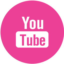 Media, pink, round, social, youtube icon - Free download