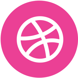 dribbble, media, pink, round, social icon