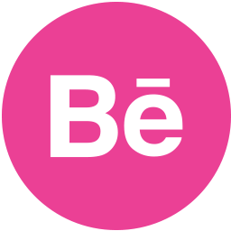 behance, media, pink, round, social icon