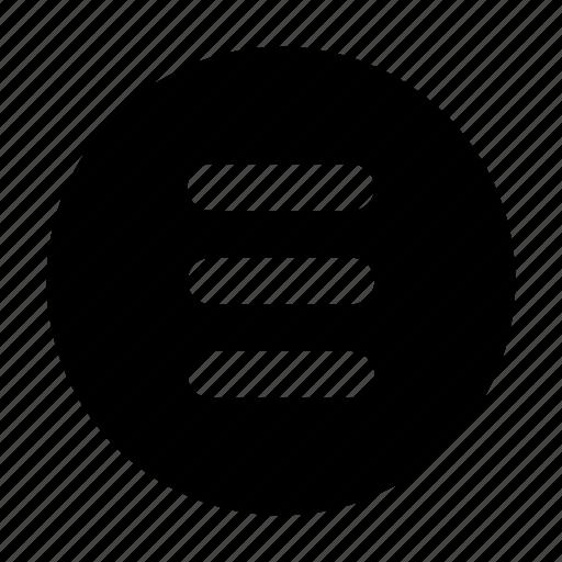 Menu, hamburger, circle, list icon - Download on Iconfinder