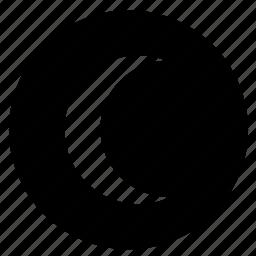light, moon, night, round icon