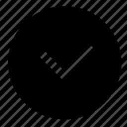 accept, complete, ok, round icon