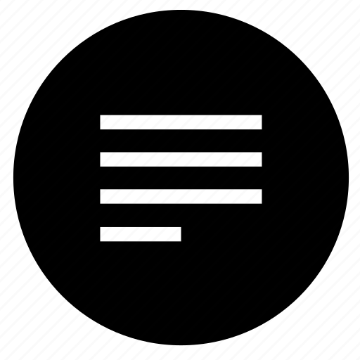 align, format, left, paragraph, round, text icon