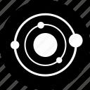cosmos, orbit, planet, round, space, sun, system icon