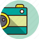 camera, image, photo, photography, picture, rounded, trekking icon
