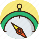 compass, direction, guide, navigate, navigation, rounded, trekking icon