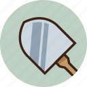 digging, farm, gardening, rounded, shovel, tool, trekking icon
