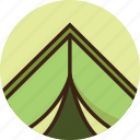 camp, camping, rounded, tent, travel, trekking, vacation icon