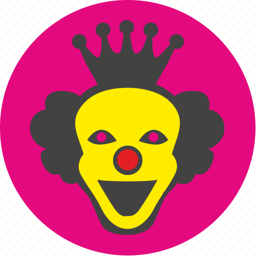 clown, face, funny, holiday, joke, smile icon