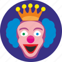 clown, crazy, face, hero, holiday, smile icon