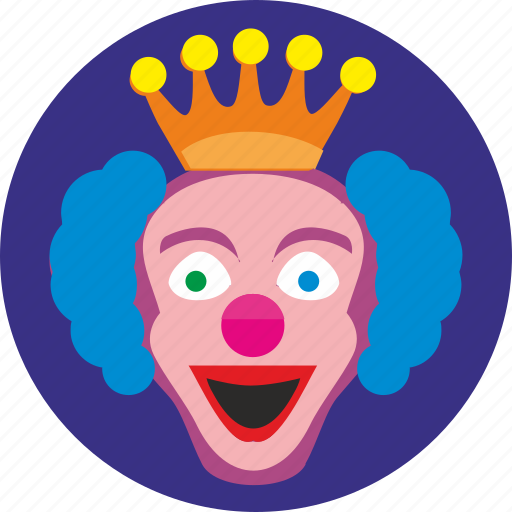 clown, crazy, face, hero, holiday, smile icon