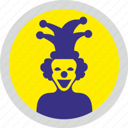 avatar, clown, face, funny, hero, round, smiley icon