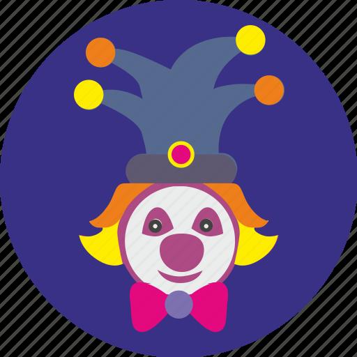 actor, circus, clown, face, funny, hero icon