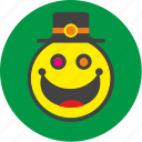 clown, face, fat, hat, joke, smile, smiley icon