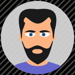asian, avatar, beard, face, male icon