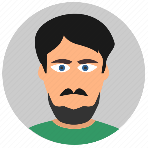avatar, boring, face, man icon