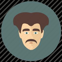 avatar, botanic, face, head, man icon