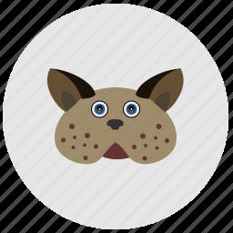 animal, avatar, cat, face, fat, head icon