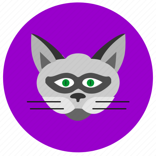 animal, cat, face, kitty, round, smiley icon
