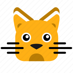 animal, avatar, cat, face, head, kitty, smiley icon