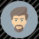 avatar, beard, classic, head, man icon