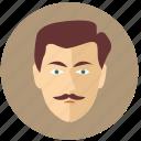 avatar, classic, intellegent, man icon
