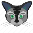 animal, avatar, cat, face, head, kitty icon