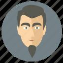 avatar, beard, face, man icon